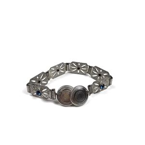 Vintage Clip-On Silver Kids Bracelet